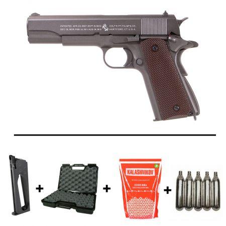 pack pistolet colt m1911 1911 a1 co2 full metal 180512 2 chargeu. Black Bedroom Furniture Sets. Home Design Ideas