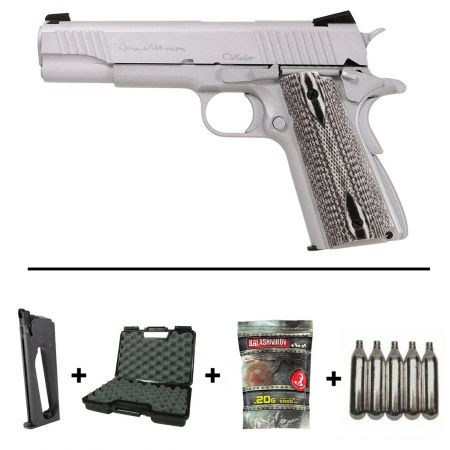 Pack Pistolet CZ Dan Wesson Valor 1911 Co2 (18528) + 2 Chargeurs + 5 Cartouches Co2 + Malette de Transport + Biberon 2000 Billes 0.20g