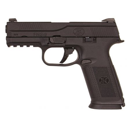 Pack Pistolet FN Herstal FNS-9 GBB Gaz Noir (200511) + 2 Chargeurs + Mallette de Transport + Bouteille de Gaz 600ml + 5000 Billes 0.20g