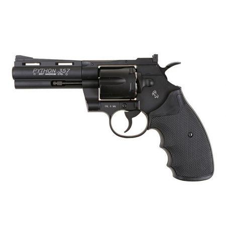 Pack Pistolet Revolver Colt Pyhton Magnum 357 4 Pouces CO2 (180308) + Cible Metal + 10 Cibles Carton + 500 Billes Aluminium + 5 Cartouches Co2