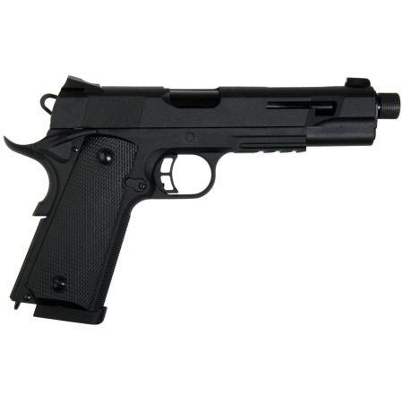 Pack Pistolet Secutor Rudis VI Co2 Noir (SAR0003) + 2 Chargeurs + 5 Cartouches Co2 + Mallette de Transport + 5000 Billes 0.20g
