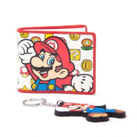 Pack Portefeuille + Porte Clef Nintendo Super Mario - PD-PT-8164