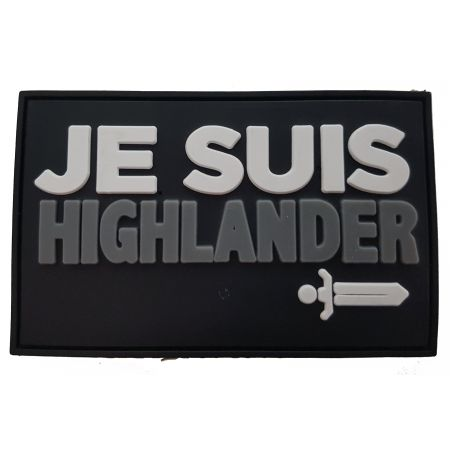 Patch PVC - Je Suis Highlander - Edition Limitee Gear Locker