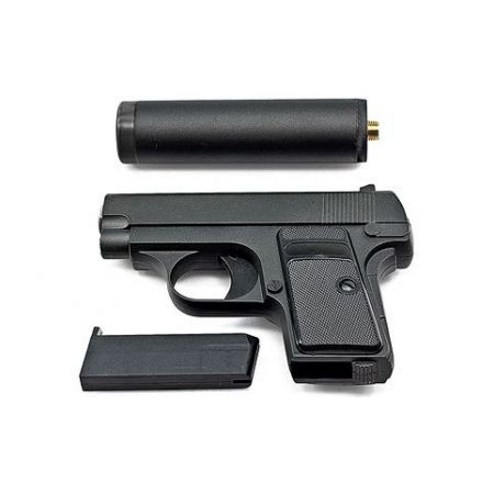 Pistolet à Billes Galaxy G1A Spring Full Metal + Silencieux (Type Colt 25) - PA-SP-5098