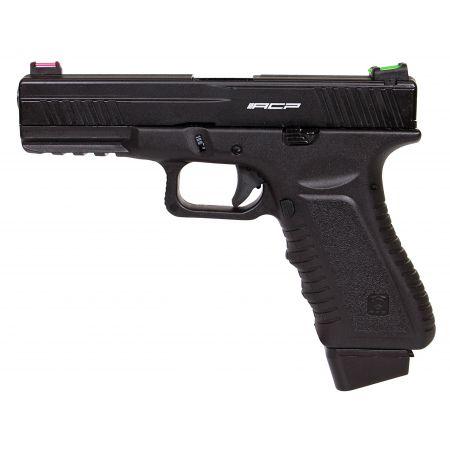 Pistolet APS 601 S17 G17 Co2 Blowback & Culasse Métal Noir - ACP601B