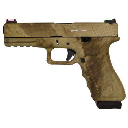 Pistolet APS S17 G17 CAMO ATACS Co2 Blowback & Culasse Métal ACP601AU