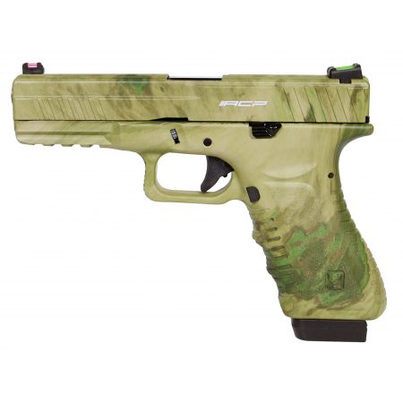 Pistolet APS S17 G17 Co2 Blowback Culasse Métal CAMO ATACS FG ACP601FG