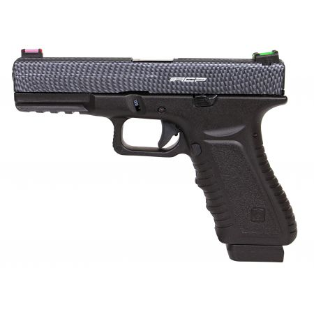 Pistolet APS S17 G17 Co2 Blowback & Culasse Métal Carbone - ACP601SCF