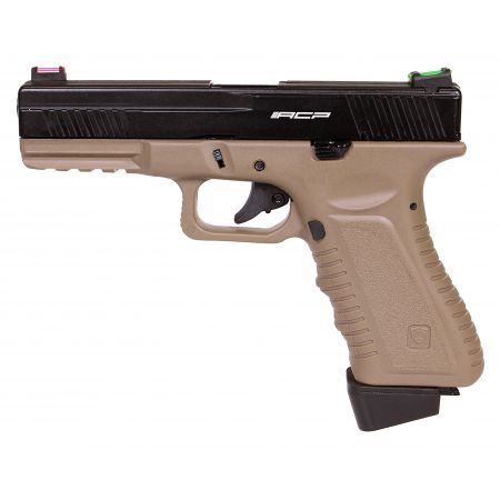 Pistolet APS S17 G17 Co2 Blowback & Culasse Métal Dark Earth - ACP601D