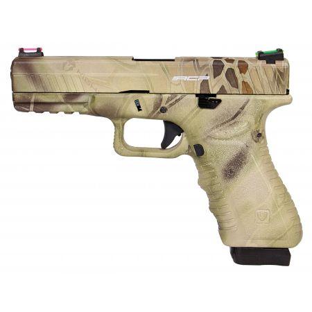Pistolet APS S17 G17 Co2 Blowback & Culasse Métal Kryptech Highlander - ACP601HL