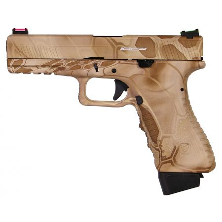 Pistolet APS S17 G17 Kryptech Nomad Co2 Blowback & Culasse Métal ACP601NM