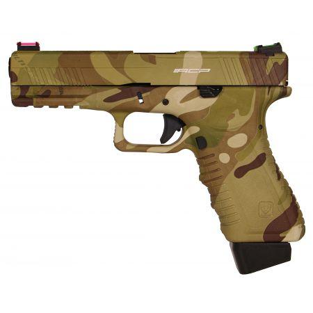 Pistolet APS S17 G17 Multicam Co2 Blowback & Culasse Métal ACP601MC