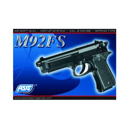 Pistolet Bereta M92fs Asg Hop Up Noir Spring KWC 14097
