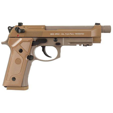 Pistolet Beretta M9A3 Co2 Blowback Culasse Métal Umarex Tan - 26357