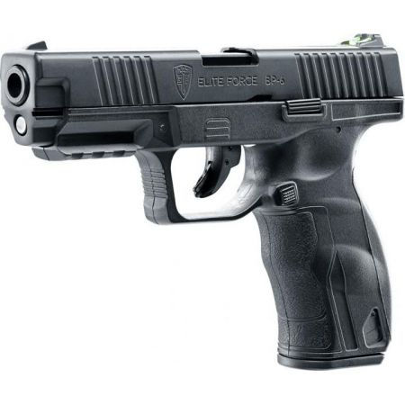 Pistolet CO2 BP-6 Elite Force Noir - Blowback / Culasse Metal - 25990