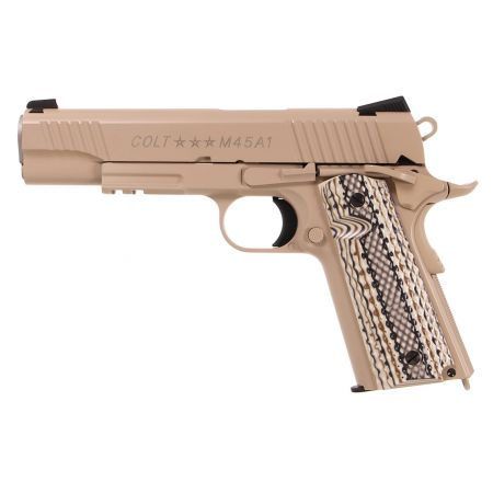 Pistolet Colt 1911 M45 A1 Rail Gun Co2 - TAN - Full Metal - Blowback - 180521