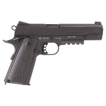 Pistolet Colt 1911 Rail Gun Blackened Co2 Full Metal - Blowback - 180524