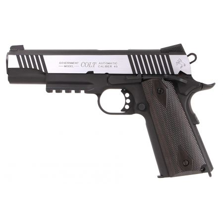 Pistolet Colt 1911 Rail Gun Dual Tone Co2 Full Metal - Blowback - 180525