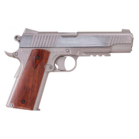 Pistolet Colt 1911 Rail Gun Stainless Co2 GNB NBB Culasse Metal 180315