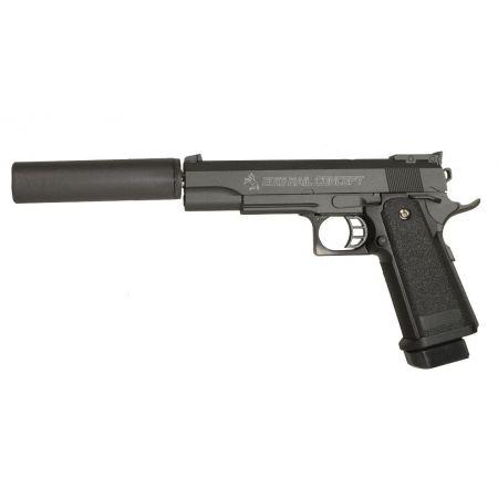 Pistolet Colt Rail Concept Spring Full Metal + Silencieux - 180120