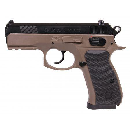Pistolet CZ 75D (CZ75D) Compact Dual Tone FDE Spring - 18603