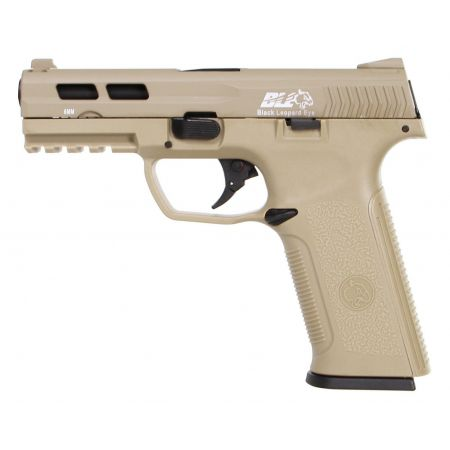 Pistolet ICS BLE Black Leopard Eye XAE ST GBB Gaz Blowback Tan - 18958