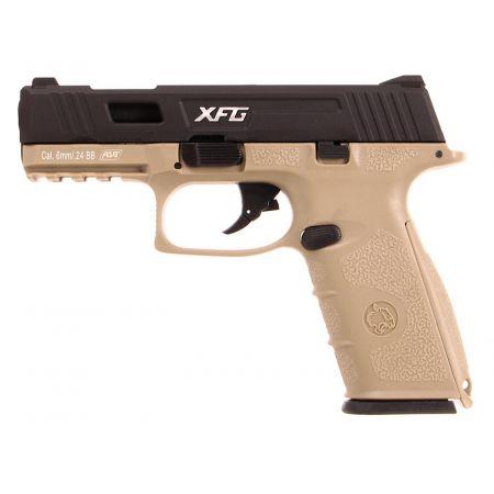 Pistolet ICS BLE XFG Black Leopard Eye GBB Gaz Blowback Dual Tone - 19263
