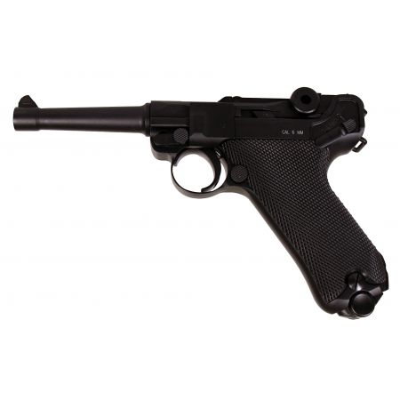 Pistolet Luger P08 Full Metal Co2 Blowback GBB Noir KWC - KCB-41DHN