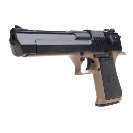 Pistolet Magnum Desert Eagle 50AE 50 AE Spring Tan & Noir - 090112
