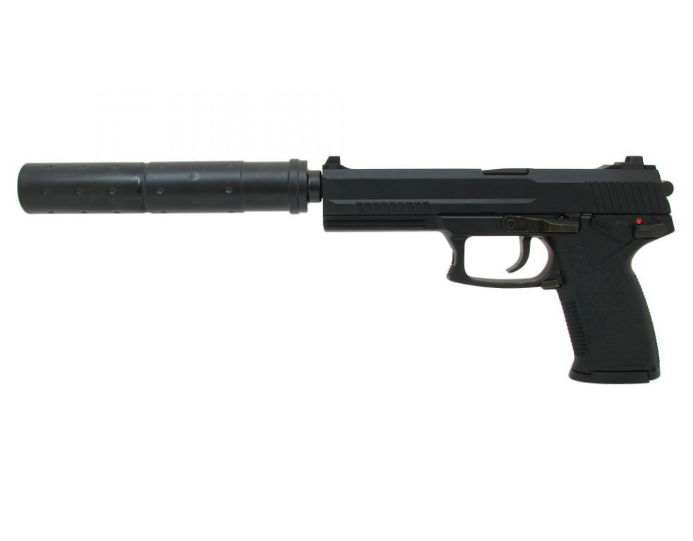 pistolet mk23 operation special gaz avec silencieux 14763 airsoft. Black Bedroom Furniture Sets. Home Design Ideas