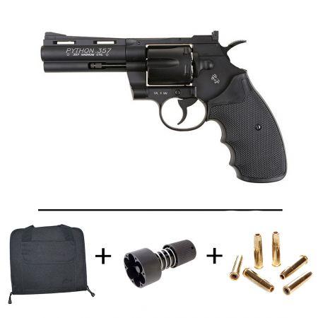 Pistolet Revolver Co2 Colt Pyhton Magnum 357 - Burst 3 Billes - 4 Pouces - 180317