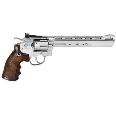 Pistolet Revolver Dan Wesson 8 Pouces Co2 - Silver - Crosse Imitation Bois - 17563