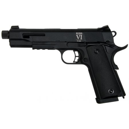 Pistolet Secutor 1911 Rudis VI 6 Canon Barrel Black Co2 Aluminium - SAR0003