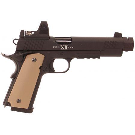 Pistolet Secutor 1911 Rudis XII Magna Custom Co2 GBB Full Metal - Noir