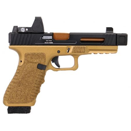 Pistolet Secutor Gladius 17 Custom Co2 GBB Blowback - Bronze