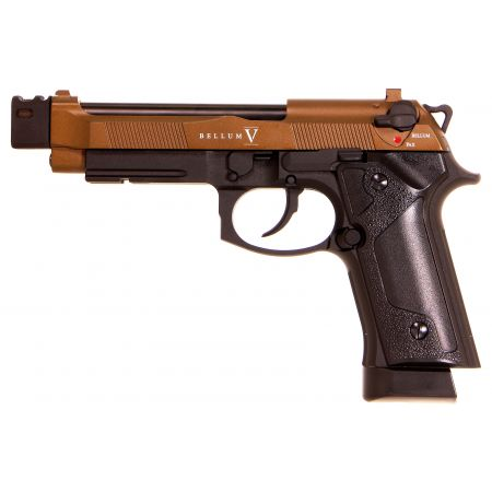 Pistolet Secutor M92 Bellum V Custom Co2 GBB Full Metal Bronze - SAB003C