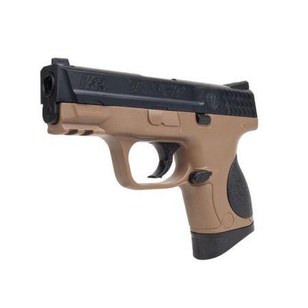 Pistolet Smith et Wesson SW M&P MP9C MP 9C Spring Noir & Tan - 320134