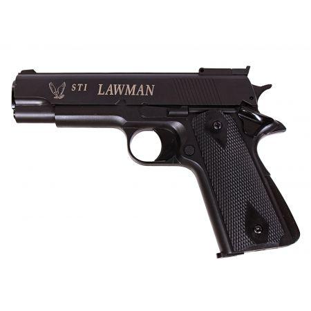 Pistolet STI Lawman 1911 M1911 Gaz NBB GNB ASG Noir - 14770