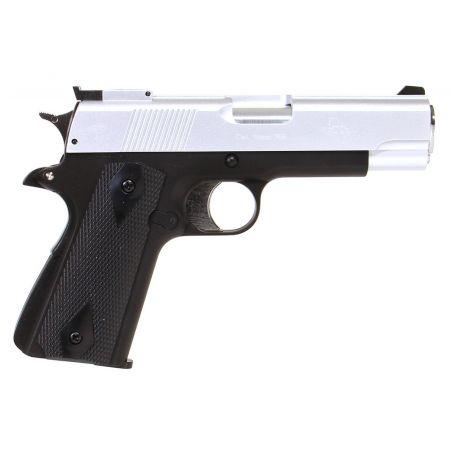 Pistolet STI Lawman 1911 M1911 Gaz NBB GNB ASG Noir / Silver - 14769