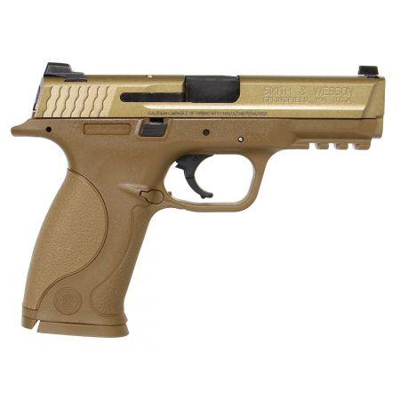 Pistolet SW MP9 M&P 9 Tan Gaz Smith & Wesson Blowback Noir GBB - Culasse Metal - 320513