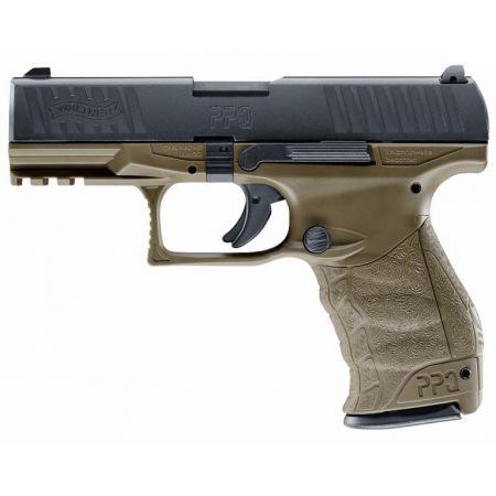 Pistolet VFC Walther PPQ M2 GBB Gaz Blowback Umarex Tan & Noir - 26347