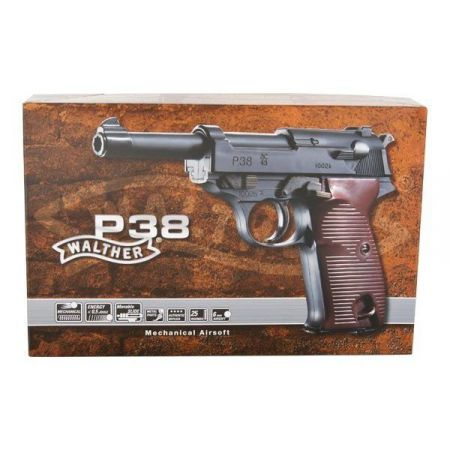 Pistolet Walther Pistol P38 Spring Metal & ABS - 25900