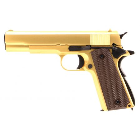 Pistolet WE 1911 A1 GBB Gaz Blowback Full Metal - Gold