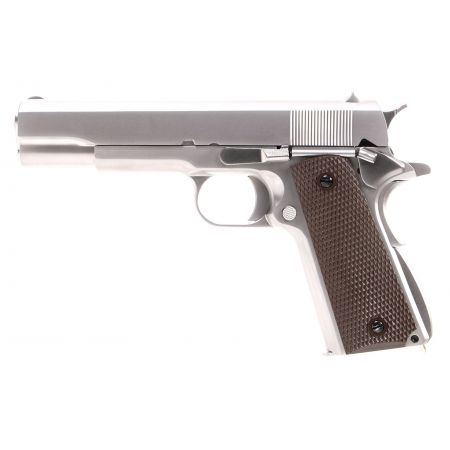 Pistolet WE 1911 A1 GBB Gaz Blowback Full Metal - Silver
