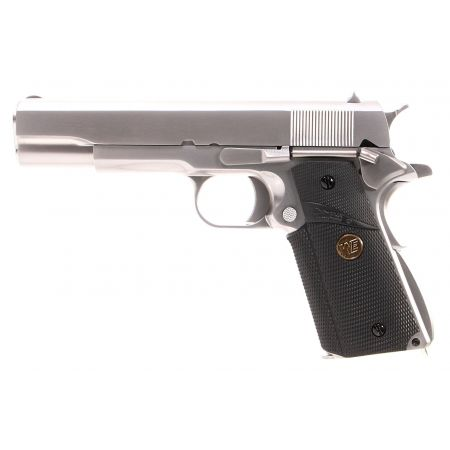 Pistolet WE 1911 A1 GBB Gaz Blowback Grip Pachmayr Signature - Silver