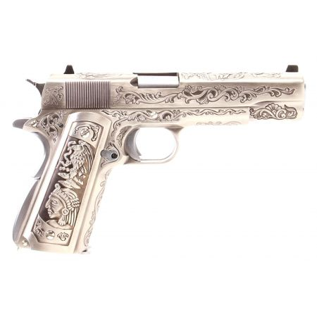 Pistolet WE 1911 Double Canon GBB Gaz Blowback Full Metal Floral Pattern - 500549