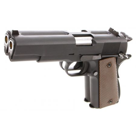 Pistolet WE 1911 Double Canon GBB Gaz Blowback Full Metal Noir - 500548