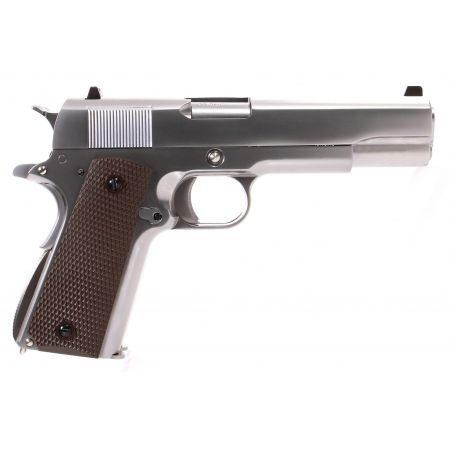 Pistolet WE 1911 Double Canon GBB Gaz Blowback Full Metal Silver - 500550