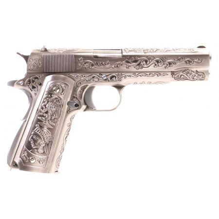 Pistolet WE 1911 Floral Pattern GBB Gaz Blowback Full Metal - Silver