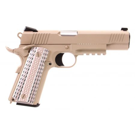 Pistolet WE 1911 M45A1 GBB Gaz Blowback Full Metal - Tan